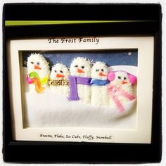 Day Two: Snowman Family Find Original Craft HERE What You Need: *You can purchase all items at the Dollar-Store* White Gloves Black Marker Shadow-Box frame White-felt Scrap-felt (we had it around t...