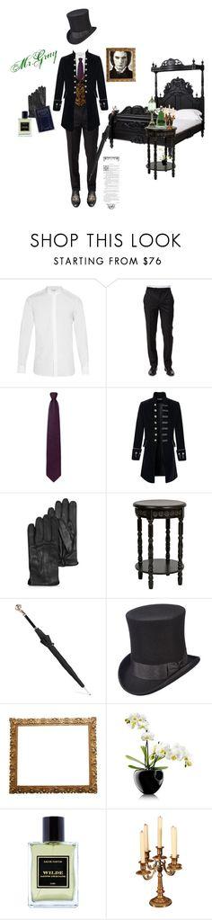 """Dorian Gray"" by fmsgray ❤ liked on Polyvore featuring Yves Saint Laurent, Ermenegildo Zegna, Alexander McQueen, Scala, Fountain, Eva Solo, Jardins D'Écrivains, men's fashion and menswear"