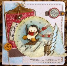 LOTV - Frosty Fun with Festive Trimmings, Heartfelt and Shabby Shack Paper Pads and Grunge Christmas Postmarks and Christmas Wishes Sentiments by DT Lou