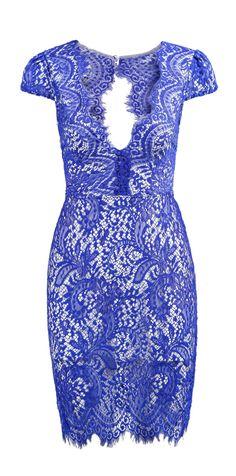 Cobalt lace dress