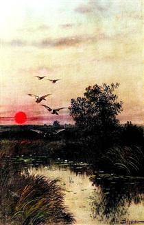 Закат над озером - Ефим Волков