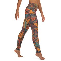 Graphics for our themed yoga leggings are sublimation printed onto the garment, giving you a bold, all-over design. Each pair of leggings is hand-cut and sewn in-house after printing. Breath Of The Wind, Yoga Session, Spandex Material, Yoga Leggings, Mockup, Breathe, Hand Sewing, Tights, Fashion