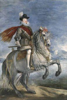 """Felipe III, a caballo"", Diego Velázquez. Óleo sobre lienzo, h. 1635"