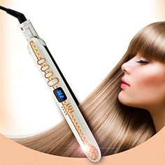 Hair Straightener | REBUNE Straight Hair Professional Digital Adjustable Blue Screen Display Anion Hair Straightener Straight Hair Straightening Lron Hairstyling Tools ** Details can be found by clicking on the image.-It is an affiliate link to Amazon. #HairStraightener
