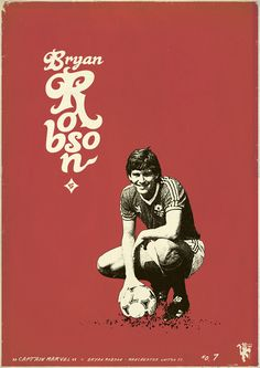 Robson: Zoran Lucić shows all its love for the round ball. Around graphic designs on the biggest players of the history of football, the Bosnian artist manages to emphasize these sportsmen of passed and the present. Soccer Art, Soccer Poster, Poster Boys, Best Football Team, Football Art, Vintage Football, Football Players, Manchester United Legends, Manchester United Football