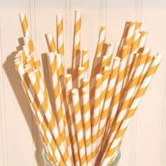Yellow paper straw on Etsy