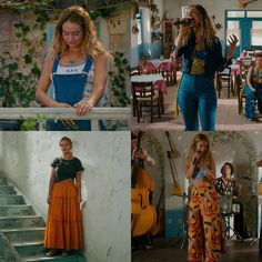 donna (lily james) in mamma mia here we go again. Fashion 90s, 70s Inspired Fashion, Boho Fashion, Fashion Outfits, Fashion Ideas, 70s Outfits, Boho Outfits, Vintage Outfits, Cute Hippie Outfits