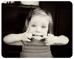 I want my little girl to have that free spirit and be that cute in a bow. :)
