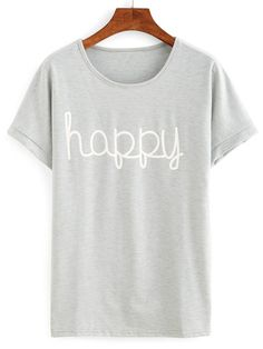 Camiseta letra manga corta