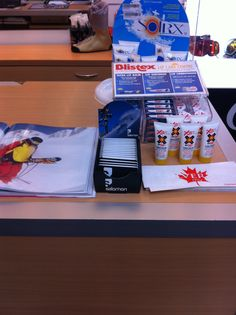 Salomon Z-CARDs on-counter at Ski Barn in Drummoyne.