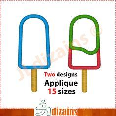 Popsicle Applique Design  Machine Embroidery Designs