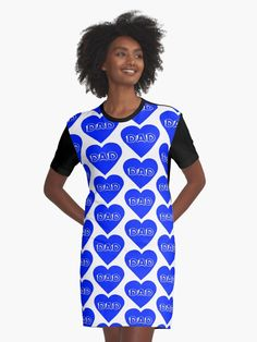 I Heart Dad Blue Pattern, the perfect gift for you to show your love to your dad this fathers day, this design is in multiple colors, please visit our store to view more. • Millions of unique designs by independent artists. Find your thing. Chiffon Tops, Classic T Shirts, Artists, Shirt Dress, Capital City, Fasion, Unique, Fathers, Coast