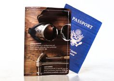 Vintage Tools Passport Cover - Recycled Paper Passport Cover with Steampunk Goggles. $14.00, via Etsy.
