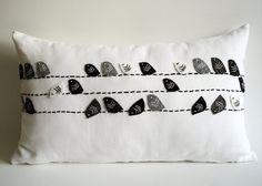 Sukan / aves lino almohada cubierta cubierta de la por sukanart
