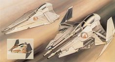 concept ships: Concept ship art by Ryan Church This concept piece is to visually present one of the vehicle. The painting shows the design for the ship as well as showing the moving parts of the ship and by blurring the back ground, suggests the speed