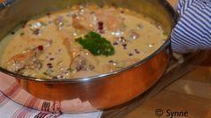 ganske enkelt: Kylling i fløtesaus med sopp og tyttebær
