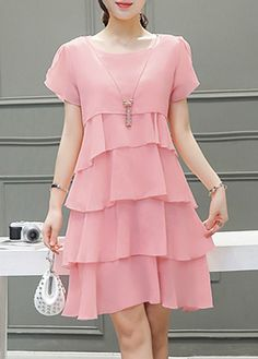 566e6c8e78f1 Hot Sale Summer Dress at Liligal.com Chiffon Dresses With Sleeves
