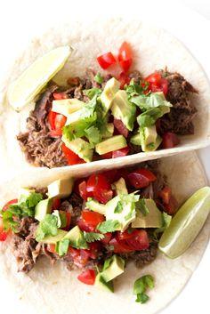 Salsa Verde Beef Tacos - Gluten-free, Paleo, and SO easy   www.grainchanger.com