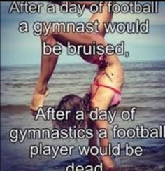 Best Sport Quotes Football So True Ideas You are in the right plac. - Best Sport Quotes Football So True Ideas You are in the right place about Water sport - Funny Gymnastics Quotes, Inspirational Gymnastics Quotes, Cheerleading Quotes, Gymnastics Pictures, Gymnastics Stuff, Amazing Gymnastics, Gymnastics Facts, Cheerleading Workouts, Gymnastics Skills
