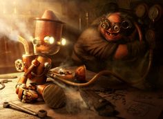 Steamnocchio by Fabricio Moraes, via Behance