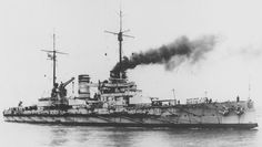 German Battleship SMS Nassau. Nassau fought at the Battle of Jutland on 31st May 1916