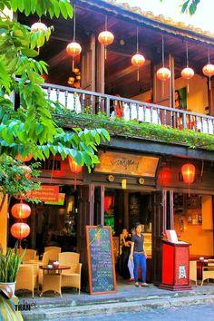 Small Cafe in Hoi An, Vietnam Vietnam Voyage, Vietnam Travel, Asia Travel, Laos, Places To Travel, Places To Go, Vietnam Holidays, Beautiful Vietnam, Vietnamese Restaurant