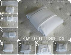 Duo Ventures: Organizing: How to fold and store sheet sets.
