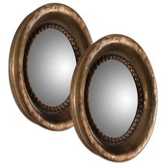 Check out the Uttermost 12847 Set of 2 Tropea Rounds Mirror in Oxidized Copper