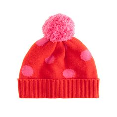 de783e781ed5e Girls  polka-dot cashmere hat