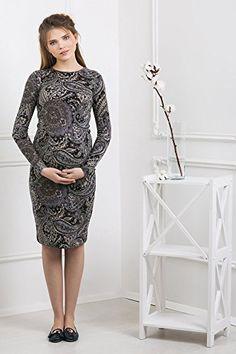 Abito prémaman - Lucia - abito maternità - maniche lunghe - Nothing But  Love - Blu nero con stampa - taglia 48 bc7bb120b272