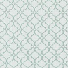 Multi Upholstery Drapery Fabric -  Aqua Embroidery Geometric Fabric Pattern