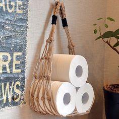 Interior examples such as bath / toilet / cafe style / California style / surfers house / toilet paper hammock Macrame Art, Macrame Design, Macrame Projects, Diy Projects, Micro Macrame, Ideias Diy, Cafe Style, Macrame Plant Hangers, Macrame Tutorial