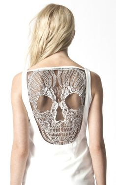 Lace Skull Back Dress from Premonition