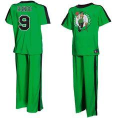 Boston Celtics Rajon Rondo Youth Player Pajama Set - Kelly Green--Would so  wear these pjs. Stephanie Maxwell · C L O T H E S 7a15f04a0