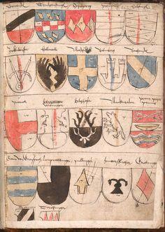 Wernigeroder (Schaffhausensches) Wappenbuch Süddeutschland, 4. Viertel 15. Jh. Cod.icon. 308 n  Folio 262r