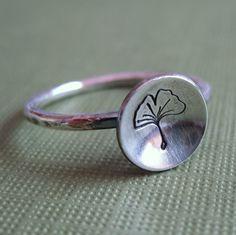 tiny ginko ring