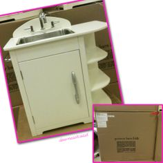 Pottery Barn Kitchen | Details about NEW Pottery Barn Kids Retro Kitchen Sink in White Color ...