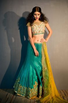 Bright and beautiful lehenga collection by satyapaul