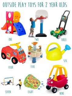 gift guide for 2 year olds- outdoor toys