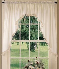 Classic Ball Fringe PermaPress Rod Pocket Curtains Httpwww - Classic ball fringe curtains