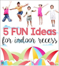 Does bad weather have you stuck in the classroom? Check out these easy and fun indoor recess ideas that work for any grade! Indoor Recess Games, Indoor Group Games, Group Games For Kids, Games For Teens, Classroom Games, Classroom Management, Classroom Ideas, Classroom Organization, Classroom Resources
