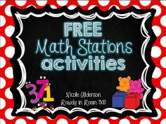 Free math stations- great for beginning of the year!