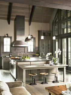 cuisine moderne de couleur gris, quelle couleur pour une cuisine moderne