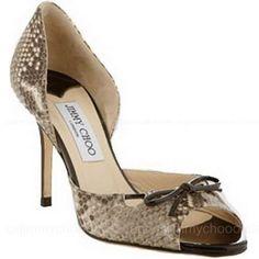 Jimmy Choo Faux Snake Shoes