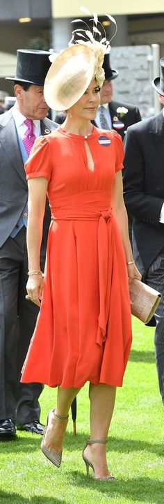 Crown Princess Mary of Denmark attended day 2 of Royal Ascot at Ascot Racecourse in Ascot, England 2016-06-15