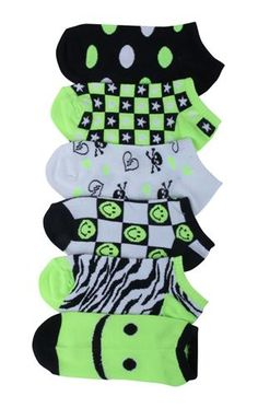 2cca57188619a skulls smiles and dots ankle socks