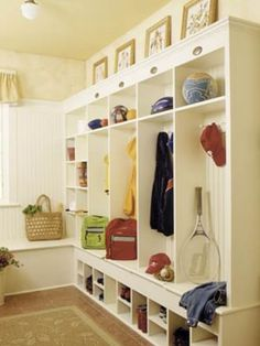 Cute cubby storage