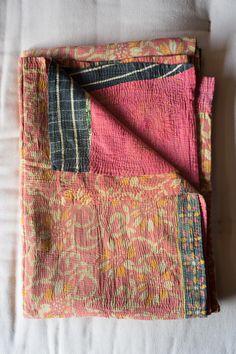 Hand-Stitched Kantha Gudri Throw Blanket 027