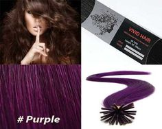 """Vivid Hair 25 Strands Straight Micro Ring Links Locks Beads Keratin Stick I Tip Remy Human Hair Extensions Purple Color 0.75g Per Strand by Vivid Hair. $30.95. Quantity: 25 Strands ( 0.75g Per Strand). Texture & Length : Straight 22"""" inches long. Color: Purple. * VIVID HAIR brand only sell  exclusively from our company Mega Made Inc.. Hair Type: I Tipped Remy Silky Human Hair. Each strand weight 0.75g and has approx 180 individual hairs that are bonded together on the ends..."""