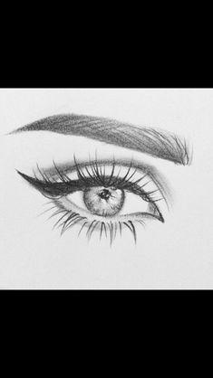 art sketches easy step by step . art sketches easy simple step by step . Cool Eye Drawings, Easy Pencil Drawings, Art Drawings Sketches, Sketch Art, Doodle Drawings, Disney Drawings, Pencil Sketching, Realistic Drawings, Sketches Of Eyes